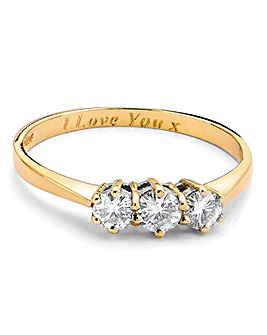 1/2 Carat Personalised Moissanite Ring
