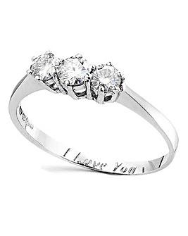1/2 Carat Personalised Moissanite Ring