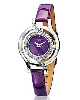 Seksy Ladies Purple Strap Watch