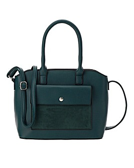 Top Handle Pocket Detail Mini Tote