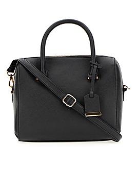 Crosshatch Texture Bowler Bag