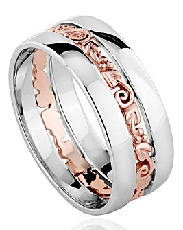 Clogau Sterling Silver and 9 Carat Rose Gold Tree of Life Ring