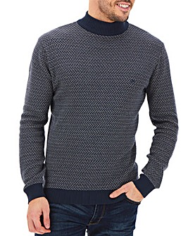 Peter Werth Jacquard Turtle Neck Jumper