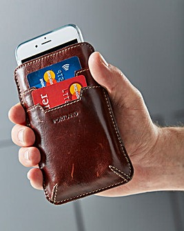 Leather Smart Phone & Power Bank Wallet