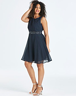 AX Paris Curve Embellished Skater Dress