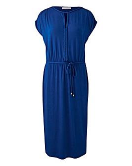 Oasis Curve Plait Trim Midi Dress