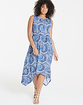 Oasis Curve Paisley Hanky Hem Dress