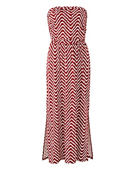 Oasis Curve Spot Wave Bandeau Dress