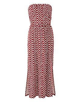 Oasis Curve Spot Wave Bandeau Dress