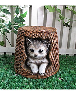 Cat and Vine Basket