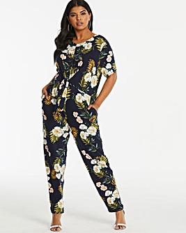 Oasis Curve Floral Palm Jumpsuit