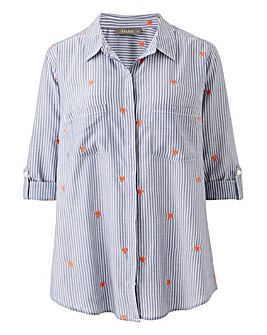 Oasis Curve Embroidered Stripe Shirt