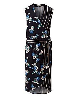 Oasis Curve Foulard Floral Midi Dress