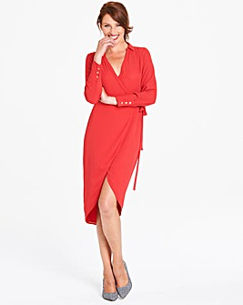 Oasis Curve Wrap Shirt Dress