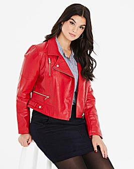 Oasis Curve Faux Leather Biker