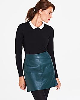 Oasis Curve Faux Leather Mini Skirt