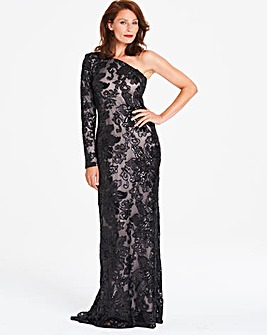 Gina Bacconi Lace Maxi Dress