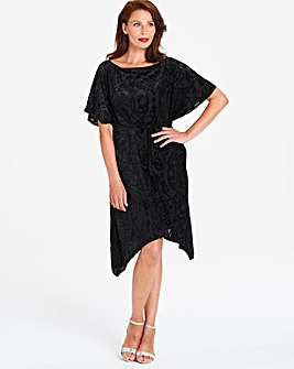 Gina Bacconi Hanky Hem Embellished Dress