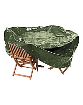 Heavy Duty Oval Patio Set Cover
