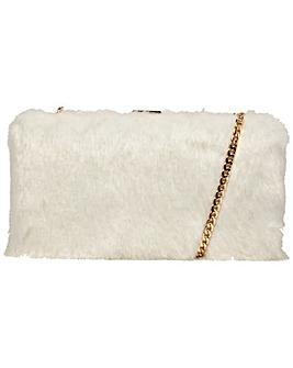 Claudia Canova Faux Fur Clutch Bag & Chain