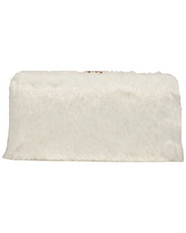 Claudia Canova Faux Fur Hard Case Clutch