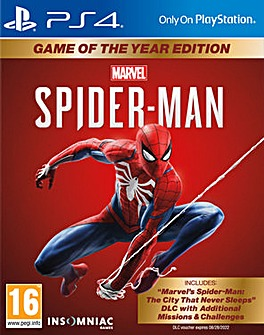 Spider-Man Game of the Year GOTY PS4