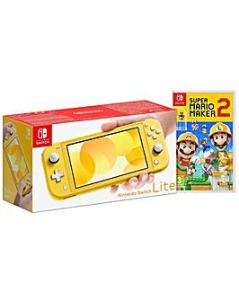 Switch Lite Yellow and Super Mario Maker