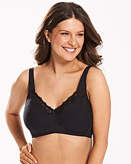 Sarah Full Cup Non Wired Black Bra