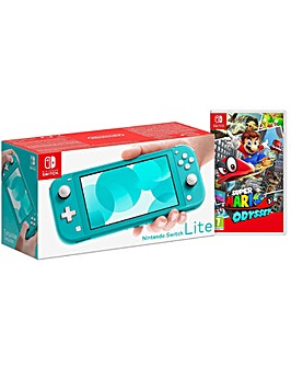 Switch Lite Turquoise and Super Mario