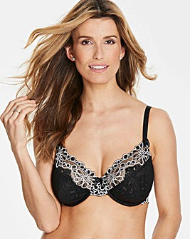 Evie Black/White Underwired Full Cup Bra