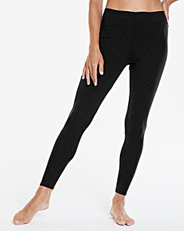 Thermal Black Sparkle Leggings