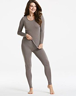 Thermal Grey Sparkle Leggings