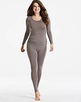 Thermal Grey Sparkle Long Sleeve Top