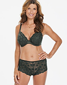 Daisy Lace Plunge Wired Khaki Bra