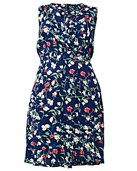 Izabel London Curve Floral Print Dress
