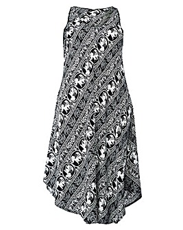 Izabel London Curve Elephant Print Dress