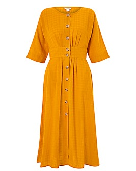 Monsoon Etna Cotton Midi Dress