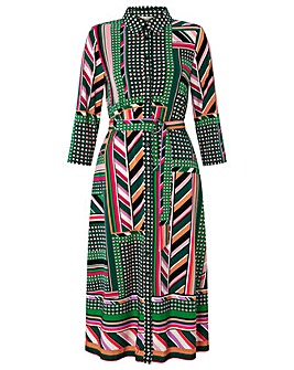 Monsoon Shalona Jersey Print Midi Dress