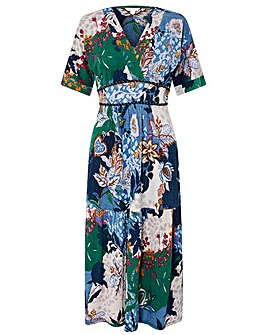 Monsoon Frida Jersey Print Midi Dress