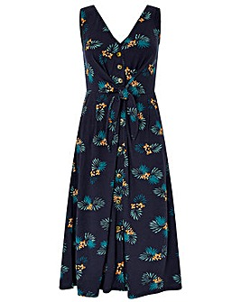 Monsoon Laticia Print Tie Front Dress