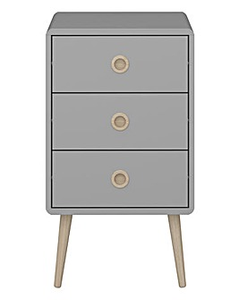 Calico 3 Drawer Side Table