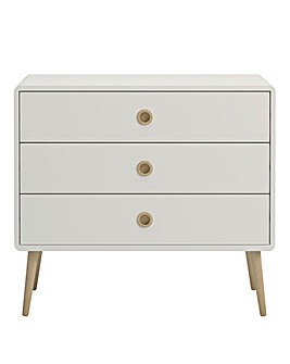 Calico Three Drawer Wide Chest
