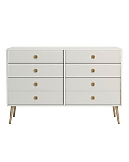 Calico Eight Drawer Wide Chest