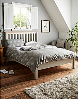 Harrogate Oak Two Tone Double Bedstead
