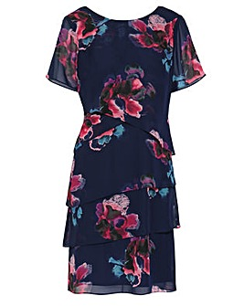 Gina Bacconi Peggy Floral Chiffon Dress