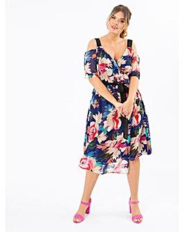 Koko Floral Cold Shoulder Dress