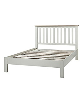 Harrogate Oak Two-Tone Double Bedstead