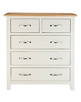 Harrogate Two Tone 3 and 2 Drawer Chest