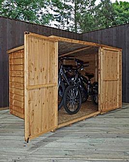 Mercia 4x6 Overlap Pent Bike Store