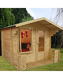 Mercia 2.7 x 2.5m Log Cabin with Veranda